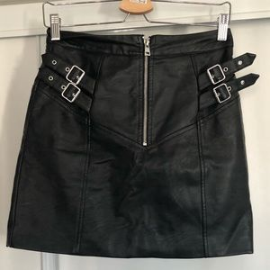 Topshop pleather skirt